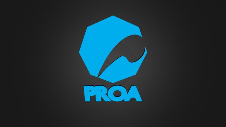 PROA_logo(Blue) Solid 3D Model