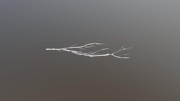 Chromed Branch 3D Model