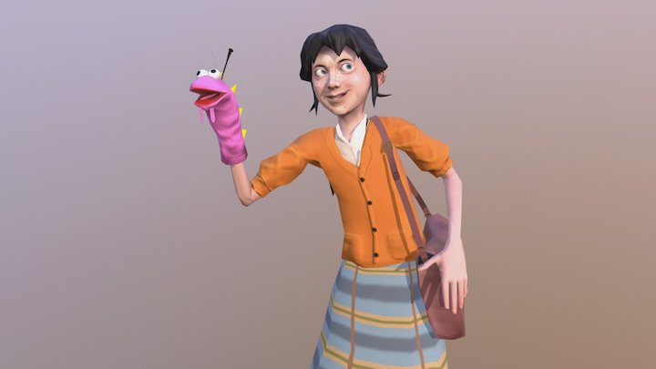 Maggie the Dragon distractor 3D Model