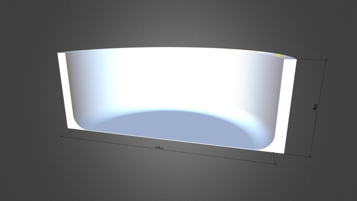 Cyclorama C-shape CLS v1 3D Model
