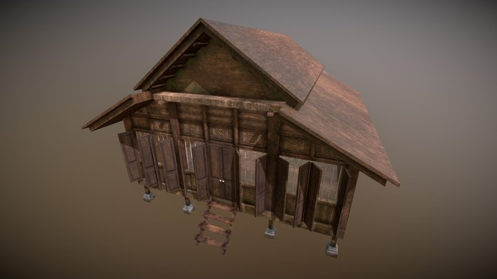 Malay Traditional House 3D Model