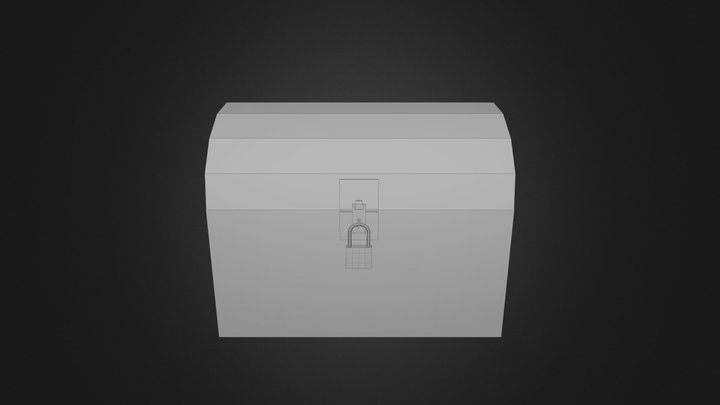 Simple treasure chest 3D Model