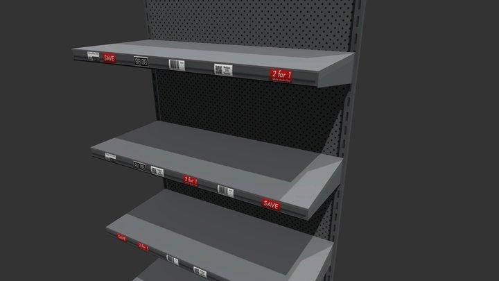 Shop or store shelf or shelving aisle 3D Model