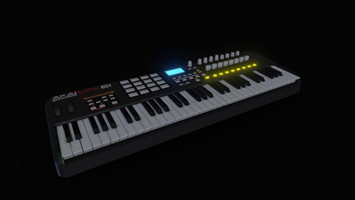 Akai MPK61 (Porter Robinson VR) 3D Model