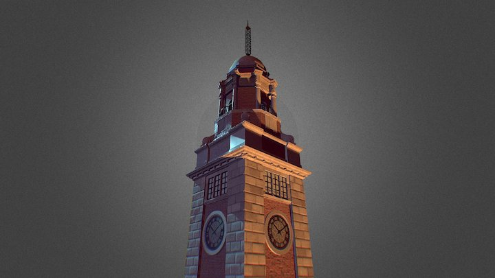ClockTower 尖沙咀鐘樓, Hong Kong 3D Model