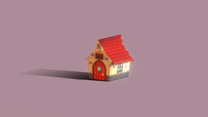 Cute lil house 3D Model