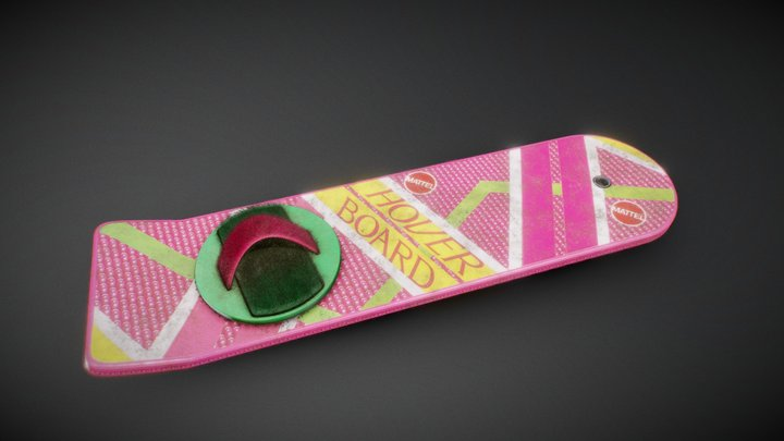 Hoverboard - Back to the future 3D Model