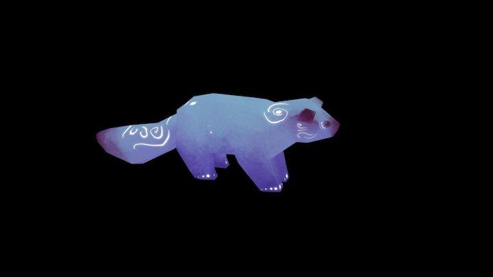 fox-ish - arctic - animated 3D Model