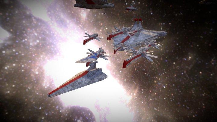Republic Fleet (Clone Wars) 3D Model