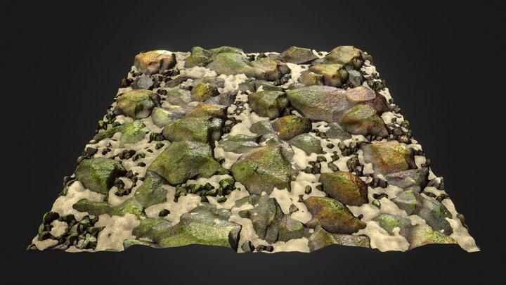 Riverbed Substance 3D Model