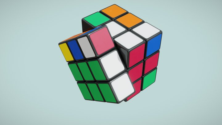 Rubik's Cube Speed Solving 3D Model