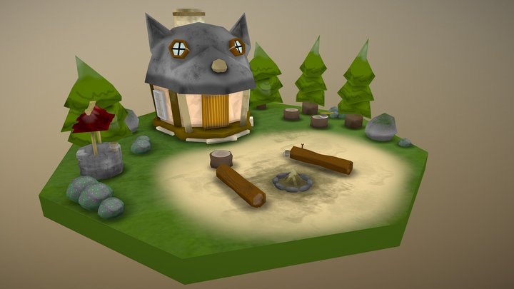 The Forest Hut 3D Model