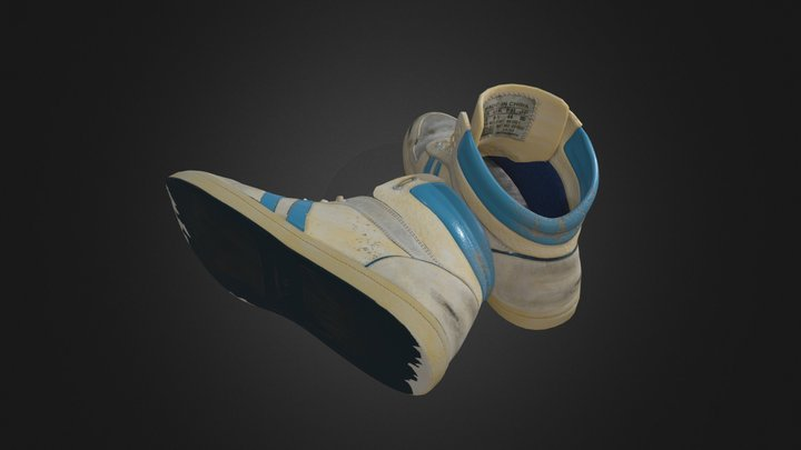 Smelly Old Sneakers 3D Model