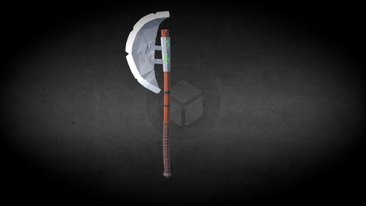two-handed axe low poly 3D Model