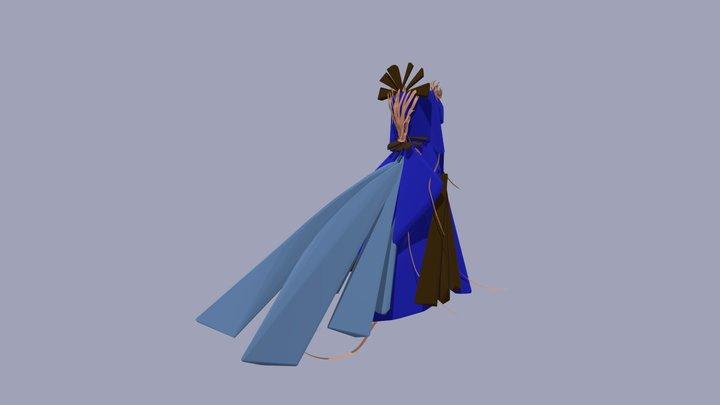Fire Gown 3D Model