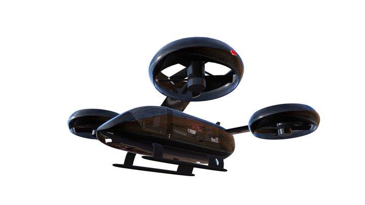 Ghost X V2.2 EVTOL FLYING VEHICLE 3D Model