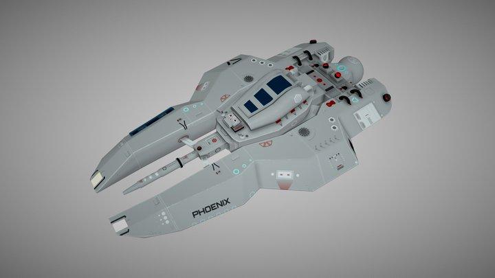 PHOENIX Sci-Fi Spaceship 3D Model
