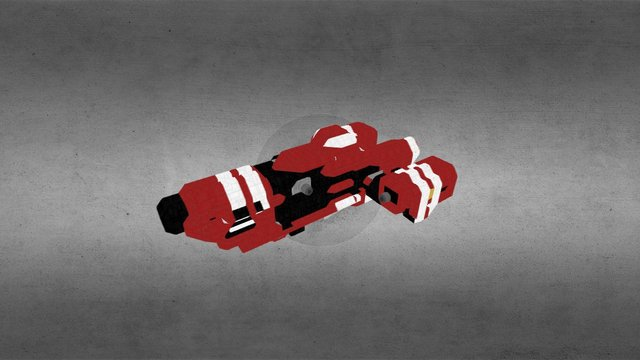 Miniature Red Ship from Space Engineers game 3D Model