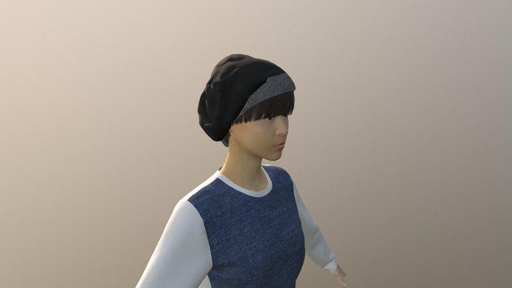 6枚ハギ大人帽子 3D Model
