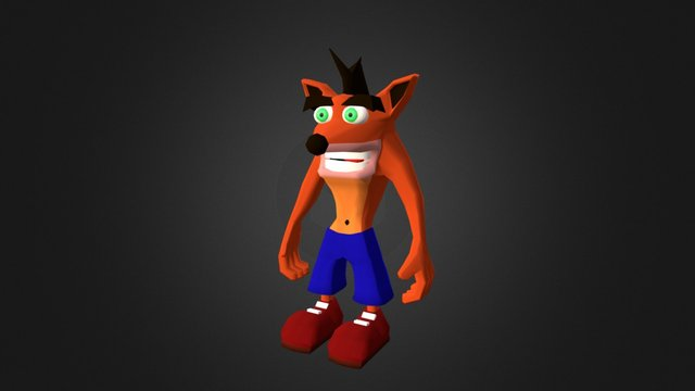 Crash Bandicoot 3D Model
