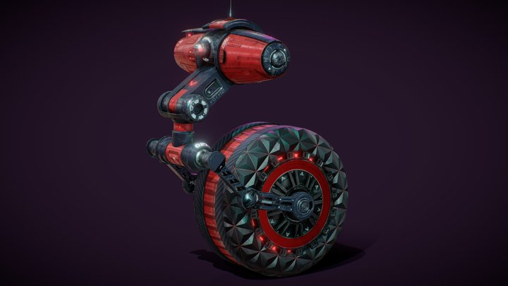 Droid 027 - Texturing Challenge: Riding Robot 3D Model