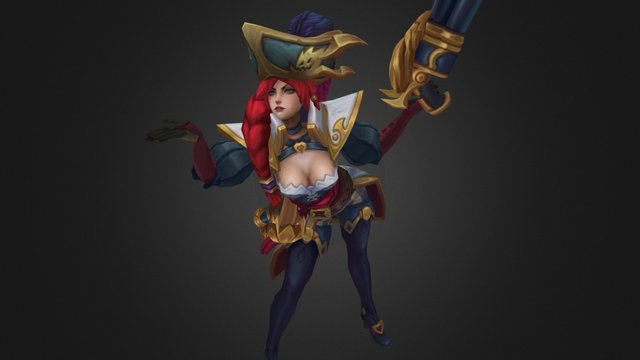 Captain Miss Fortune 3D Model