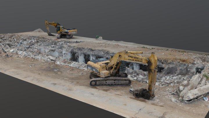 Zbrojovka - ST139 nuclear shelter excavation 3D Model