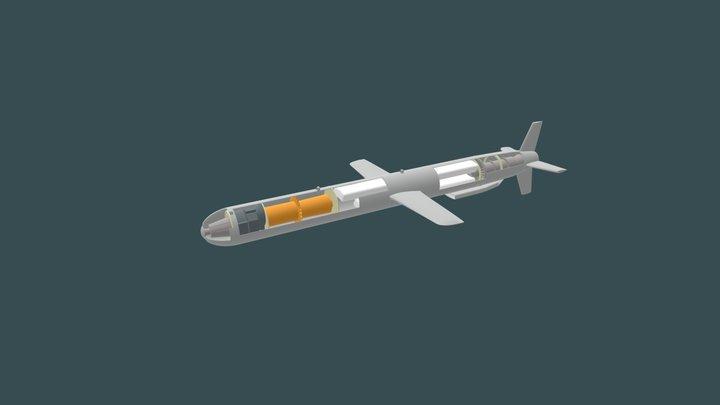 Tomahawk Risteilyohjus 3D Model