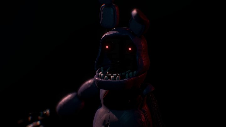 Withered Bonnie Fnaf (Five Nights At Freddys 2) 3D Model