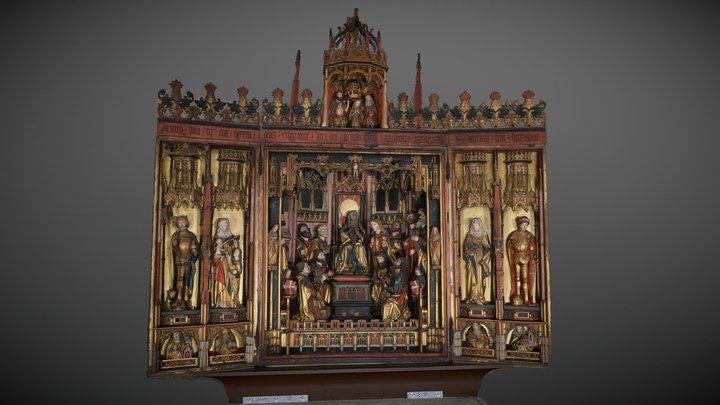 High Altar, the Tallinn Church of the Holy Ghost 3D Model