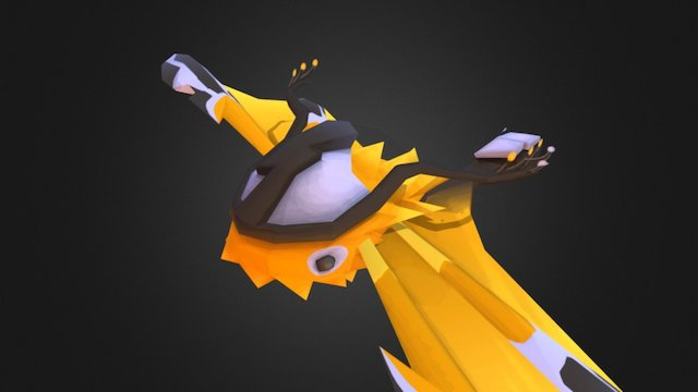 Lumini: Yellow Lumini, final form 3D Model