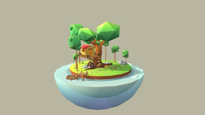 The tree house 3D Model