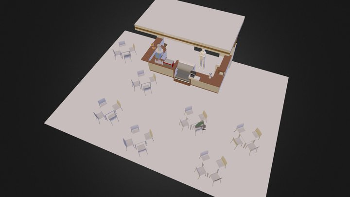 Tekin Coffee House 3D Model