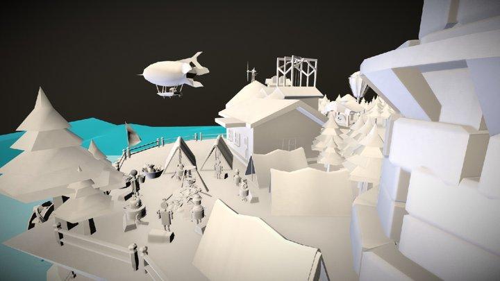 Farm Island 3D Model