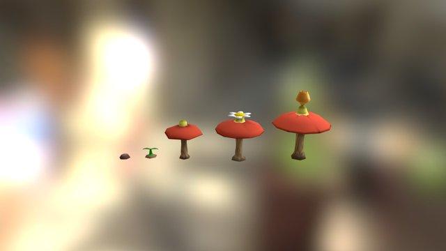 Pomeg Berries 3D Model