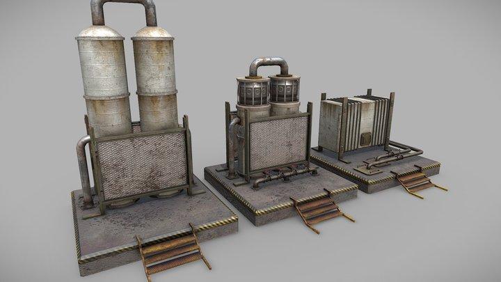 old oil tank .2 3D Model