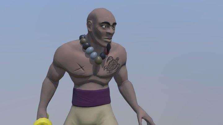 Stylized Pirate 3D Model