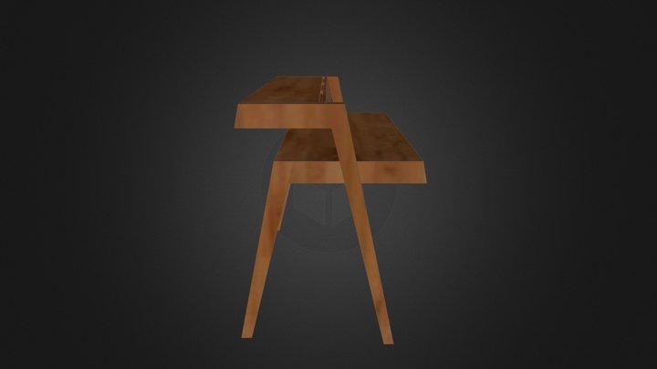 Modern Desk (Inspired by DWR) 3D Model