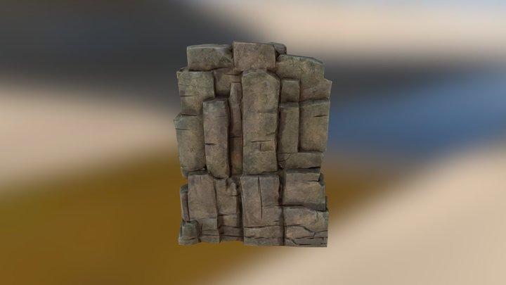 Rock_Wall_Short 3D Model