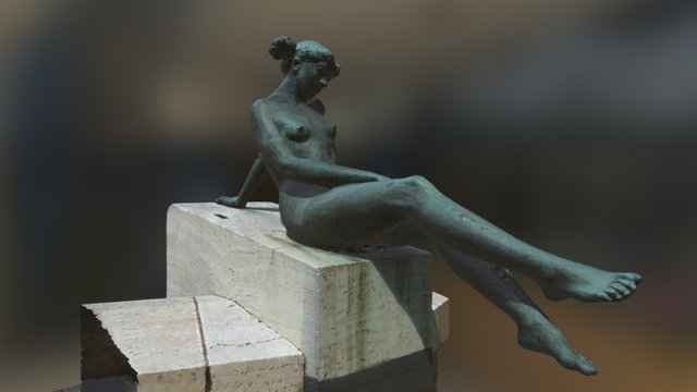 statue of a young woman 3D Model