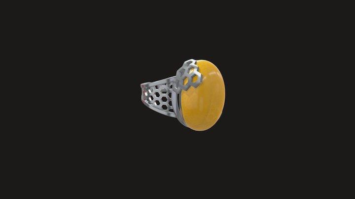 Honey Comb Ring 3D Model