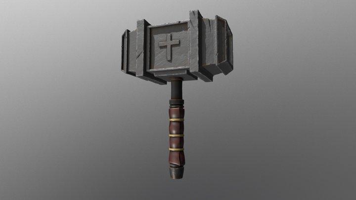 Crusader Hammer - Medieval 3D Model
