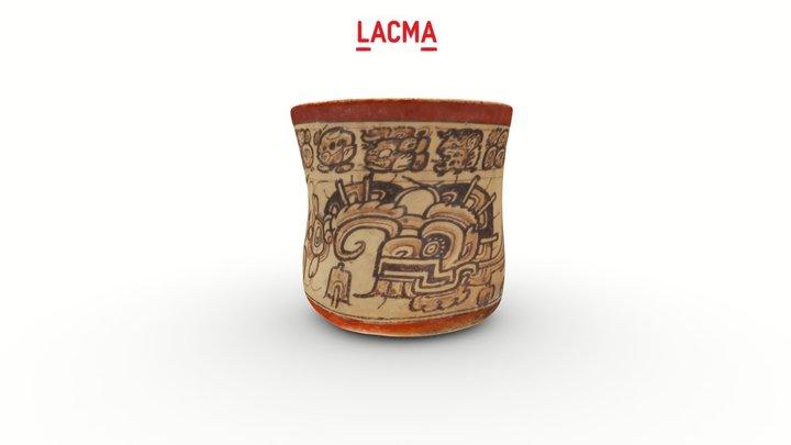 "Codex-Style Vase with ""War Serpent"" Motif 3D Model"