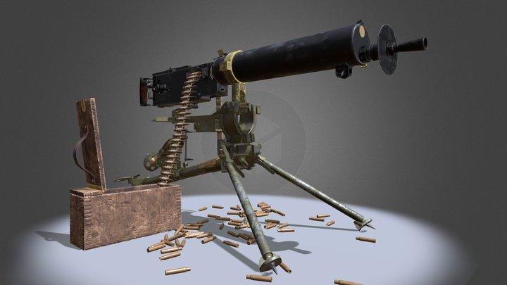 Type24 maxim gun [4k texture] 3D Model