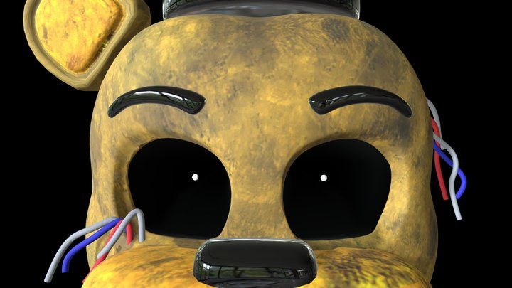 Withered Golden Freddy 3D Model