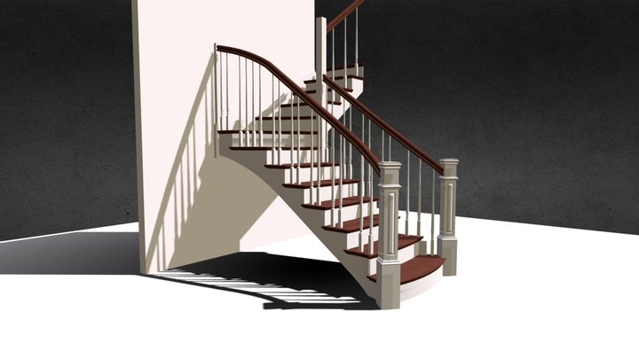 BigPosts Stair 3D Model