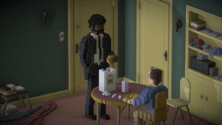 Big Kahuna Burger 3D Model
