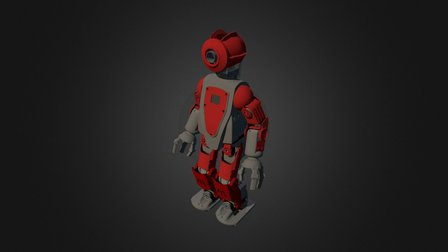 HR-OS5 Humanoid Research Robot - Orion v2 (Red) 3D Model