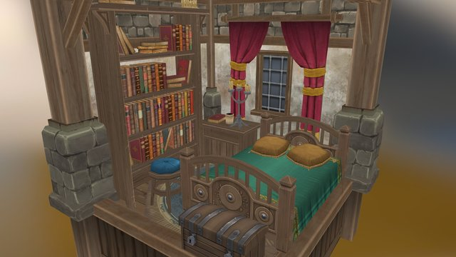 Human House - Archays RPG 3D Model