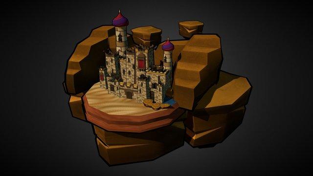 Arabian Castle 3D Model